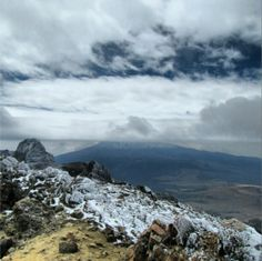 Popocateptl volcano view from the top of the iztaccihuatl volcano, Mexico! I do not know who took this, but great job!
