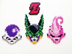 Dragon Ball Z Villains (Freeza, Cell and Majin Buu)  Perler Bead Sprite by ShowMeYourBits
