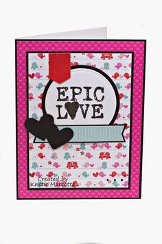 The best things in life are Pink.: Doodlebug's Lovebirds 6x6 cards