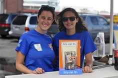 A couple of the terrific folks at A & W  making the summer Cruisin' for a Cause to help end MS fun and fantastic.