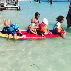 Kids learn to windsurf early on Bonaire