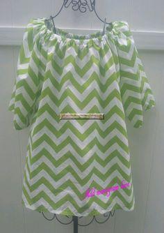 Chevron Peasant Lime Green Shirt   Plus Size by scrubheaven, $42.00