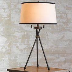 Modern Tripod Table Lamp in bronze