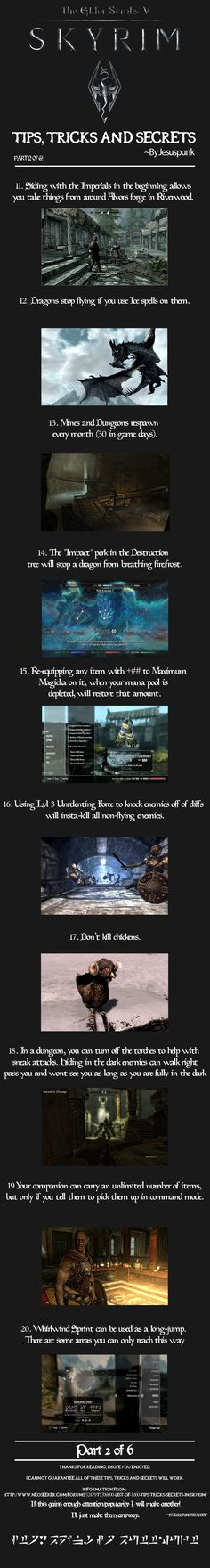 Skyrim - Tips, Tricks and Secrets! {Part 2} - Imgur