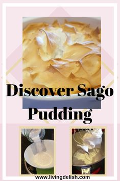Are you looking for something different but delicious to make as a dessert? Maybe it's time that you discover Sago Pudding! Try this easy to make recipe. Frog Eggs, Malva Pudding, Jam On, Vanilla Essence, Easy Food To Make, Puddings, Delicious Desserts, Something To Do, Delish