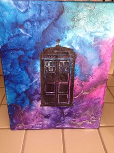 Melted Crayon Art Doctor Who TARDIS
