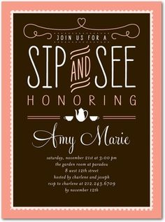57 best sip see images on pinterest baby shower fun babyshower sip and see i would rather have this then a baby shower have everyone m4hsunfo