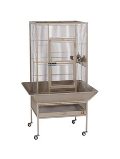 """Parkway Cage in Coco Brown 24"""" L x 22"""" W x 52 3/4"""" H"""
