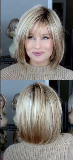 Medium Hair Cuts, Short Hair Cuts, Medium Hair Styles, Curly Hair Styles, Fine Hair Cuts, Short Hair With Layers, Layered Hair, Cabelo Pin Up, Bob Hairstyles For Fine Hair
