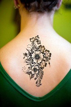 Freehand flowers and leaves henna design                                                                                                                                                                                 More