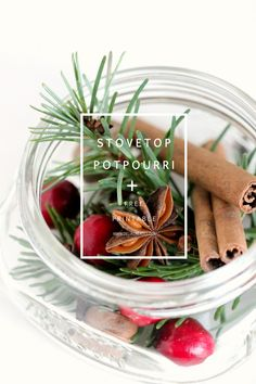 stove top potpourri neighbor gifts - Three recipes + a free printable!