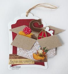 Marianne Design Cards, Christmas Cards, Christmas Ornaments, Box Design, Paper Cutting, Envelope, November, Scrap, Easy Cards