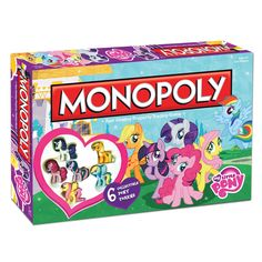 Welcome to Equestria! A big adventure and tons of fun await you in this playful My Little Pony edition of MONOPOLY. Favorite locations in Ponyville are up for grabs including Cutie Mark Clubhouse, Swe