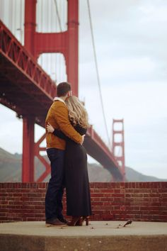 """My sister's engagement photos <3.... """"A winter engagement session at The Presidio in San Francisco 