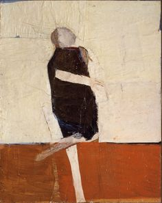 Walking Mime by Nathan Oliveira A work from the collections of the de Young and Legion of Honor museums of San Francisco, CA. Abstract Expressionism, Abstract Art, Bay Area Figurative Movement, California College Of Arts, Figurative Kunst, Knit Art, Art Abstrait, Figure Painting, Face Art