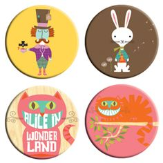 Alice in Wonderland BabyLit buttons