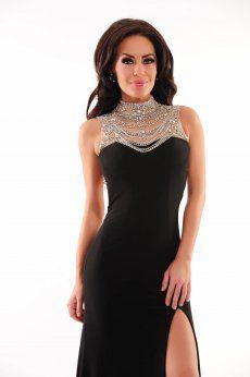 Rochie Sherri Hill 21355 Black