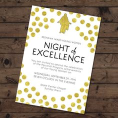 Young Women in Excellence Invite Young Women 2015 by BAJDESIGNS