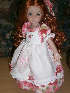Handmade-Embroidered-Doll-dress-for-Effner-Little-Darling-Doll. Ends 9/7/14.