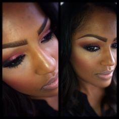 example of high.eye makeup hilight contour