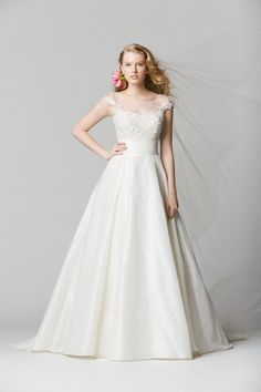 25 Stunning Non Strapless Wedding Dresses I'm in love with this dress