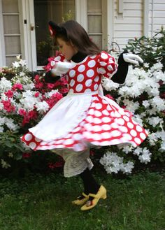 Minnie Mouse costume.. This may be our Halloween costume this year