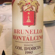 Aged sooo gracefully! Still so fresh. #coldorcia Food Bulletin Boards, Brunello Di Montalcino, Dom Perignon, Italian Wine, Slow Food, Sparkling Wine, Wine Recipes, Tuscany, Italian Recipes