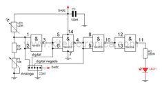 Kit módulo sensor de luz y oscuridad diagrama esquemático.