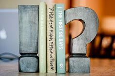 faux zinc bookends DIY