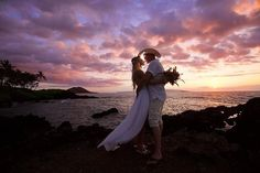 """""""When I said I do, I meant 'til the end of all time ~ be faithful and true, devoted to you ~ that's what I had in mind when I said I do"""" -Clint Black - photo by Anna Kim Photography - Maui, Hawaii outdoor sunset wedding"""