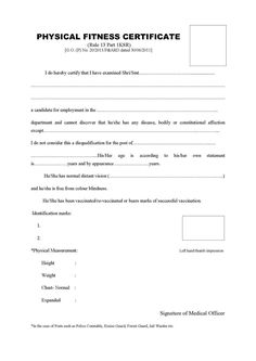 Image result for physical fitness certificate format for college image result for physical fitness certificate format yelopaper