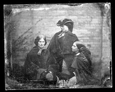 The Bronte Sisters. photo found in France. Charlotte, based on photo Emily, based on the photo