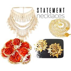 statement necklace by francoisefortier on Polyvore featuring mode, River Island, Yves Saint Laurent and statementnecklaces