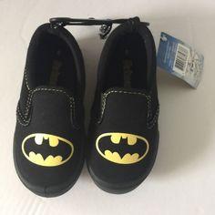 577d20909e71 Batman Boys Shoes Black Canvas Size 8 Kids Slip On