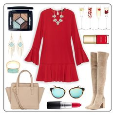 """""""Red Hot"""" by e-m-i-l-y-71 ❤ liked on Polyvore featuring Gianvito Rossi, LSA International, Monica Vinader, Kendra Scott, Salvatore Ferragamo, J.Crew, Christian Dior, MAC Cosmetics, Taylor Morris and Dolce&Gabbana"""