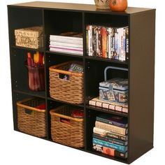 Bookcase with Nine Cubby Spaces.  For our room