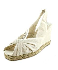CASTAÑER Castaner Dayana Women  Open-Toe Canvas Ivory Slingback Sandal'. #castañer #shoes #sandals