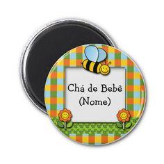Ímã no layout93, especial bebês imas..... #gatalua #zazzle #bebe #baby