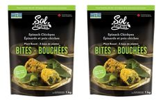 Sol Cuisine launches Spinach Chickpea Bites in Canada - FoodBev Media Food Packaging Design, Tasty Bites, Appetisers, Plant Based, Spinach, Side Dishes, Canada, Snacks, Meals