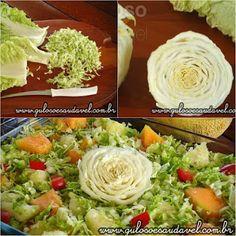 Quer uma dica de salada refrescante para o #almoço? A Salada de Abacaxi com Acelga e Melão é fácil, rápida e nutritiva, em 6 min está pronta!  #Receita aqui: http://www.gulosoesaudavel.com.br/2012/05/21/salada-de-abacaxi-com-acelga-e-melao/