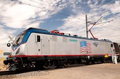 The Amtrak Cities Sprinter undergoes testing at the DOT Transportation Technology Center (TTC) facility in Pueblo, Colorado. Electric Locomotive, Diesel Locomotive, Train Car, Auto Train, Locs, Train Crafts, Transportation Technology, Trains, City