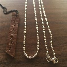 I just added this to my closet on Poshmark: Sterling silver chain 24 inches 925. Price: $30 Size: OS