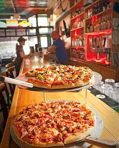 You'll love the pizza at Rhombus Guys in Grand Forks, North Dakota, one of our favorite Midwest pizzerias. http://www.midwestliving.com/travel/around-the-region/27-great-midwest-pizzerias/page/5/0