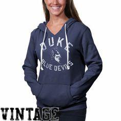 Duke Blue Devils Womens Vintage Logo Pullover Hoodie - Duke Blue