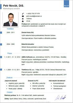 Pro-CV 5. vzor muž. Více informací zde http://www.pro-cv.cz/produkt/pro-cv-5-vzor-muz/