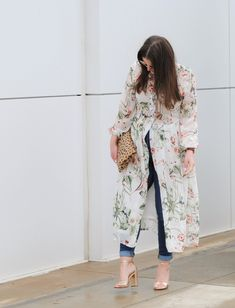 How to Style a Dress over Jeans