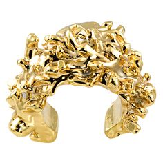 Christian Lacroix Gold Plated Resin Cuff, France 1980s