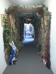 "Would love to incorporate this somehow. Alice in Wonderland ""Down the Rabbit Hole"" Prom Entrance"
