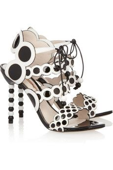 Yayoi patent and leather sandals