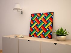 ▴ LEGO® wall decoration ▴ Wall decoration made of original, brand new LEGO® bricks. It is fully glued and ready to hang on the wall and bring Lego Design, Lego Bedroom, Bedroom Wall, Lego Wall, Lego Furniture, Lego Craft, Lego Brick, Lego House, Lego Projects